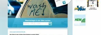 Neue Internetplattform für Betreiber von Fahrzeugwaschanlagen