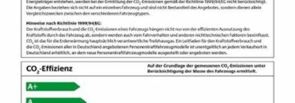 Öko-Label für Pkw wird Pflicht