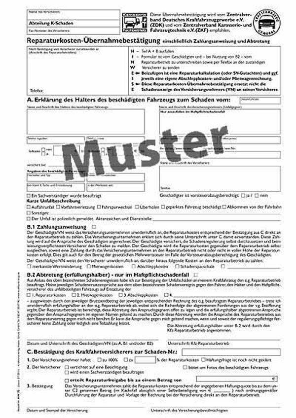 rkb neue formulare - Abtretungserklarung Muster