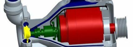 Elektrisch/mechanische Kühlmittelpumpe