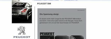 Peugeot auf 'Facebook und 'YouTube' vertreten