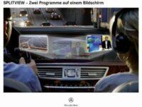 Zwei Programme auf einem Bildschirm