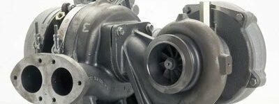 Zweistufig geregelter Turbolader für V8-Diesel