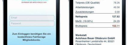 Fair-Garage: Werkstattangebote jetzt über mobile Webapplikation