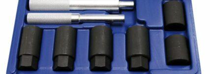 Achtteiliger Felgenschloss-Lösewerkzeugsatz von Kunzer für 'Rundgedrehte'