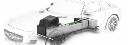 Vortrieb mit vier Synchron-Elektromotoren im Mercedes-AMG-E-Cell
