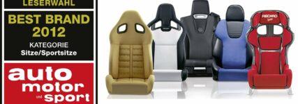 'Recaro' von 'auto motor und sport' zur 'Best Brand 2012' gewählt