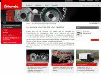 Brembo startet mit deutscher Webseite