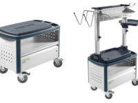 Universalcenter von Festool für ergonomisches Arbeiten in Karosserie- und Lackierbetrieben