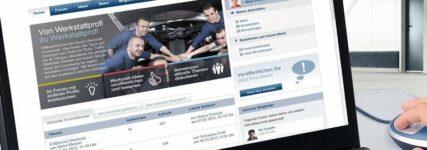 Onlineportal von Bosch für Werkstattprofis