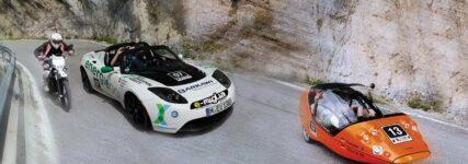 Rallye für E-Mobilität 'e-miglia' mit Ziel St. Moritz