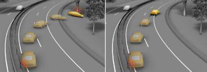 Continental: Fahrzeug bremst nach Unfall mit 'Post-Crash-Braking' selbständig