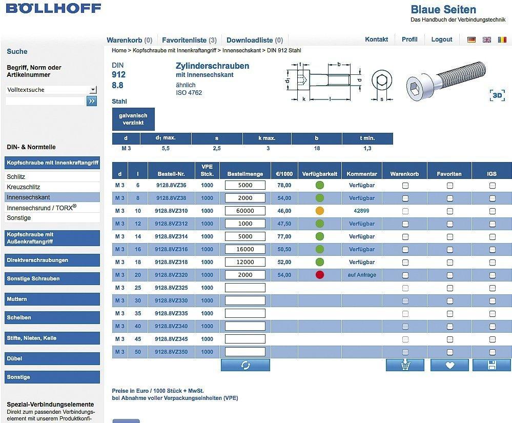 Böllhoff erweitert \'Blaue Seiten Online\' um Shop-Funktion - KRAFTHAND