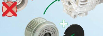 Geräuschbildung im Riementrieb – technische Lösung