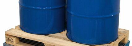 Auffangwannen von Denios für Öl- und Bremsflüssigkeit