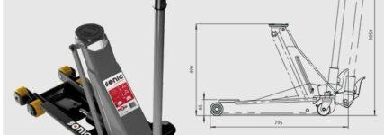 Sonic Equipment: Sechsrädriger Wagenheber mit zwei Tonnen Tragfähigkeit