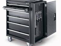 Werkstattwagen 'cubio' von Bott mit elektronischem Schließsystem