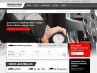 Neue Internetseite von Bridgestone Europe für PKW, SUV, 4×4 und Transporter