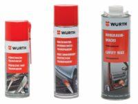Weiterentwickelte Fahrzeug-Korrosionsschutzwachse von Würth
