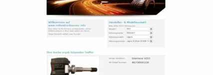 Reifendruckkontrollsysteme mit passenden OE-Sensoren auf Website des BRV