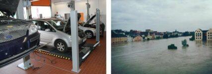 Hochwasser I: Wo Kfz-Werkstätten Hilfe finden und 'Sofort-Geld' beantragen können