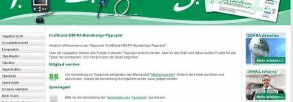 Wertvolle Preise beim Bundesliga-Online-Tippspiel von KRAFTHAND und DEKRA
