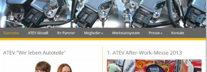 Autoteile: ATEV mit neuem Internet-Auftritt
