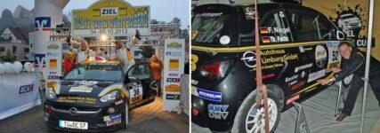 Markus Fahrner beim ADAC-Opel-Rallye-Cup in Heidenheim vorne