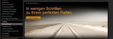 Neuer Online-Reifenfinder von Continental: In fünf Schritten zum richtigen Pneu