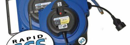 Schläuche und Elektrokabel sicher aufrollen mit 'Safety Control System' von Rapid