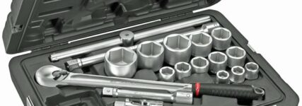 3/4-Zoll-Steckschlüsselsortiment 'KL.500' von Facom für hohe Drehmomente