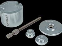Fünfteiliges Spezialwerkzeug von Sauer für Radnaben-Radlagereinheiten