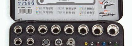 Durchsteckschlüsselsatz von Würth mit verstellbarem Ratschenkopf