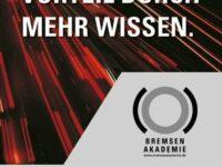 Bremsenakademie 2014: Termine stehen