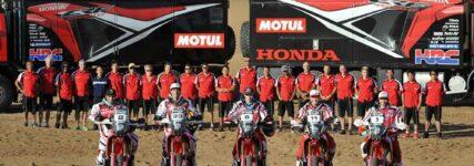 Honda-Werksteam / Speedbrain ist bereit für die Rallye-Dakar