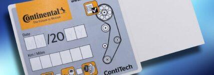 Conti-Tech legt Zahnriemen-Wechselaufkleber neu auf
