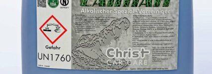 Alkalischer Reiniger 'Caiman' von Christ Car Care für die Schmutzanlösung