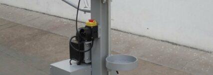 Elektrohydraulischer Antrieb bei Federspannerstation 'Canvik Titan' von Scangrip