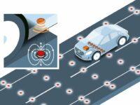 Volvo testet Reichweite und Zuverlässigkeit von Fahrbahnmagneten