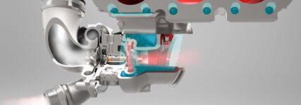 Turbolader von Continental mit wassergekühltem Aluminium-Turbinengehäuse