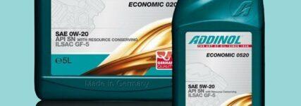 Addinol: Zwei neue Motorenöle in den Viskositätsklassen SAE 0W-20 und 5W-20