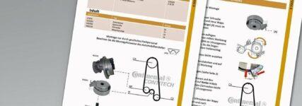 Detaillierte Einbauanleitungen für Produkte der Contitech Power Transmission