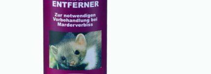 Duftmarken-Entferner von Stop&Go Schaub hält Marder fern
