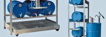 Lagersysteme von Rapid für eine sichere Ölversorgung in der Werkstatt