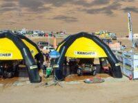 Kärcher machte Druck: Fahrzeugreinigung bei der Rallye-Dakar