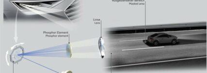 Audi: Variablere Fahrbahnausleuchtung dank Matrix-Laser-Technologie