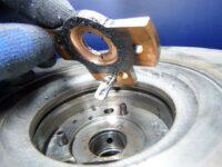 Verstopftes Axiallager verhindert Öldurchfluss