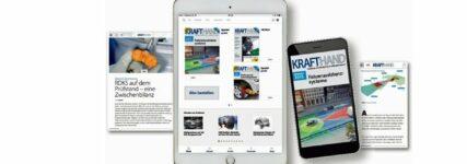 KRAFTHAND ab sofort auf Tablet oder Smartphone lesen