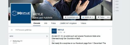 Meyle mit eigener Facebook-Fanpage
