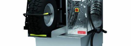 Haweka: Reifenschonende Radwaschmaschine